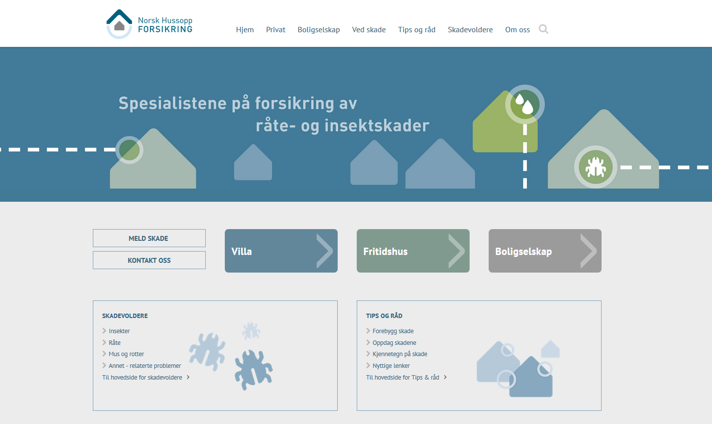 Norsk Hussopp Forsikrings nye nettsider