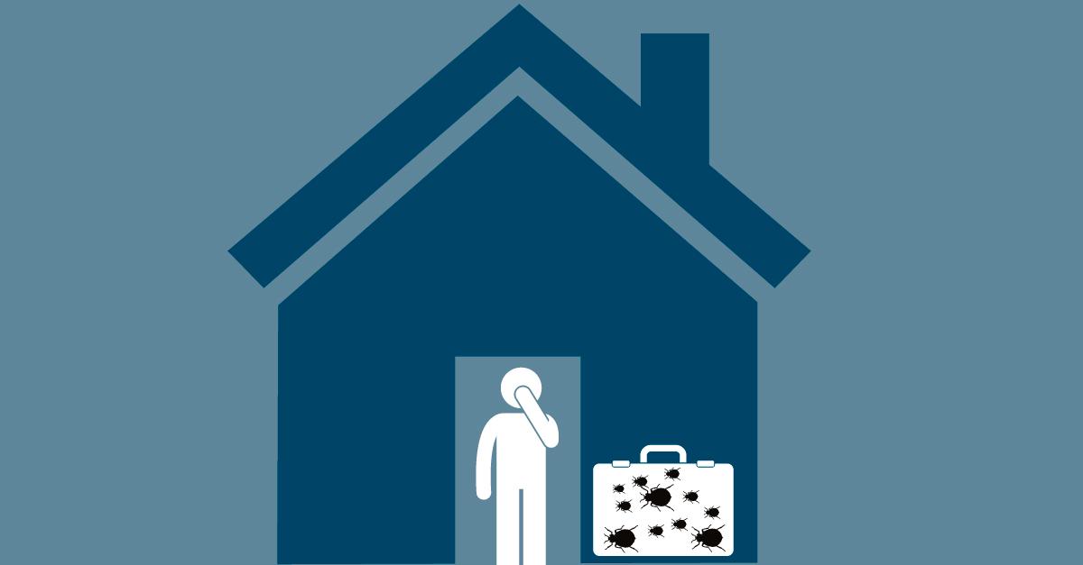 Ikke ta med kofferten inn i huset dersom du mistenker veggedyr.